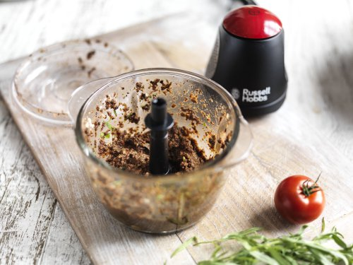 -[ Russell Hobbs Desire Mini Chopper 1 L Bowl with 500 ml Food Capacity, 380 W 18558 - Black  ]-