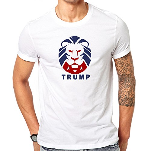 Donald Trump The President Of The United States Our Lion T Shirt Medium White