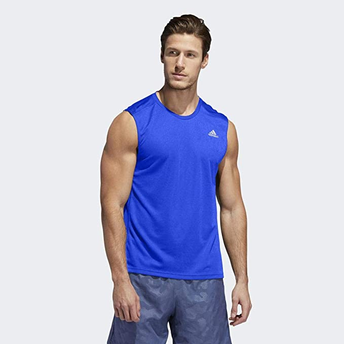 adidas Own The Run Slv Camiseta Sin Mangas, Hombre, Reauni