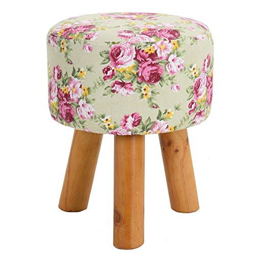 Yingxinguang Ottoman Round Footstool Foot Rest,Soft Quick Detachable Cushion,Garden Design from Yingxinguang