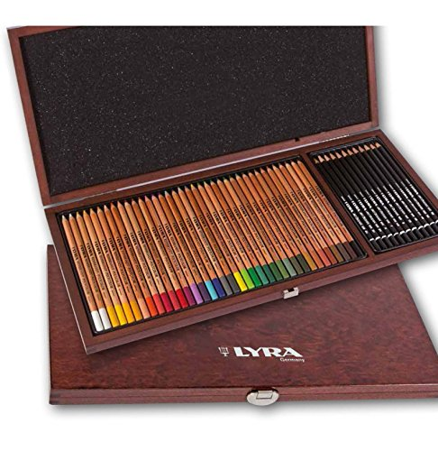 Maimeri Cassetta in massello di faggio, 48 matite - MATITE, Cassetta in Legno
