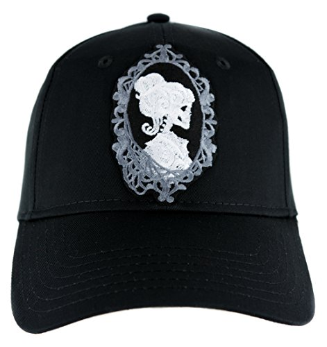 YDS Accessories Haunted Mansion Her Cameo Skeleton Halloween Hat Baseball Cap Alternative Clothing