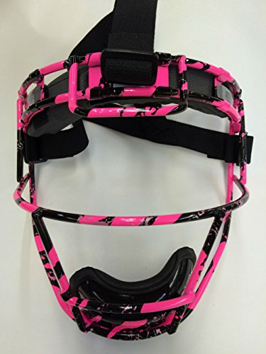 Youth Custom Schutt Pink Splash Infielder Face Guard by Schutt