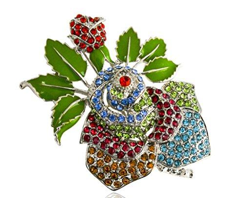 Gnzoe Jewelry, Womens Brooch Rhinestone Flowers Shape Flower Brooch Vivid Flowers Brooch Pins - Tx Austin Frames Glasses