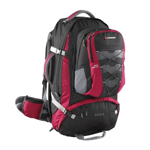 Caribee Travel Pack Akula 75 Backpack (Red), Outdoor Stuffs