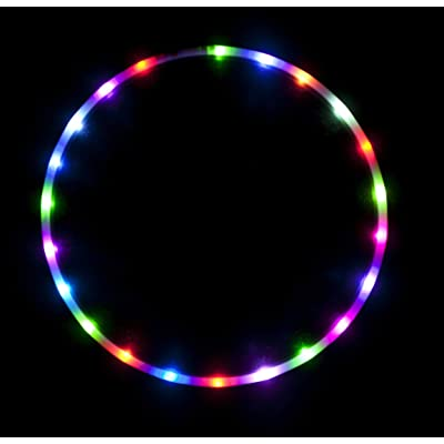 "36"" - 24 Color Changing LED Hula Hoop - Cotton Candy Rainbow: Toys & Games"