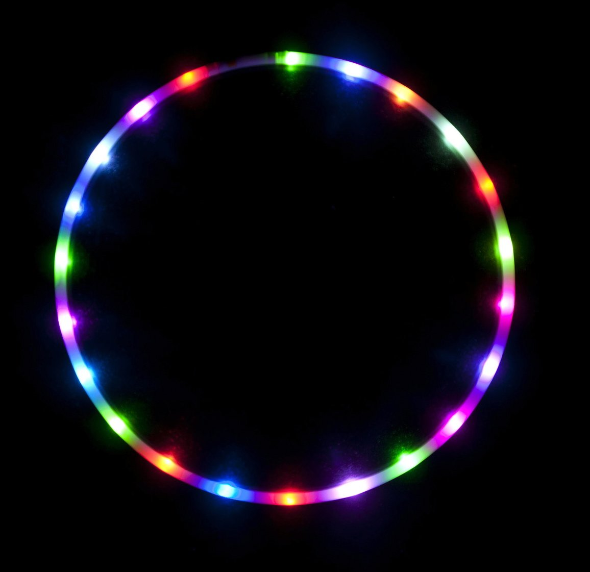 36'' - 24 Color Changing LED Hula Hoop - Cotton Candy Rainbow by ElectricLifeStylz (Image #1)