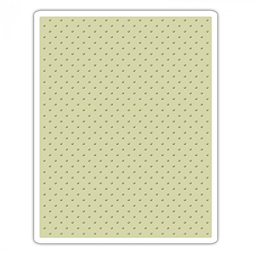 A2 Card Embossing Folder (Sizzix 661612 Texture Fades Embossing Folder, Tiny Dots by Tim Holtz)