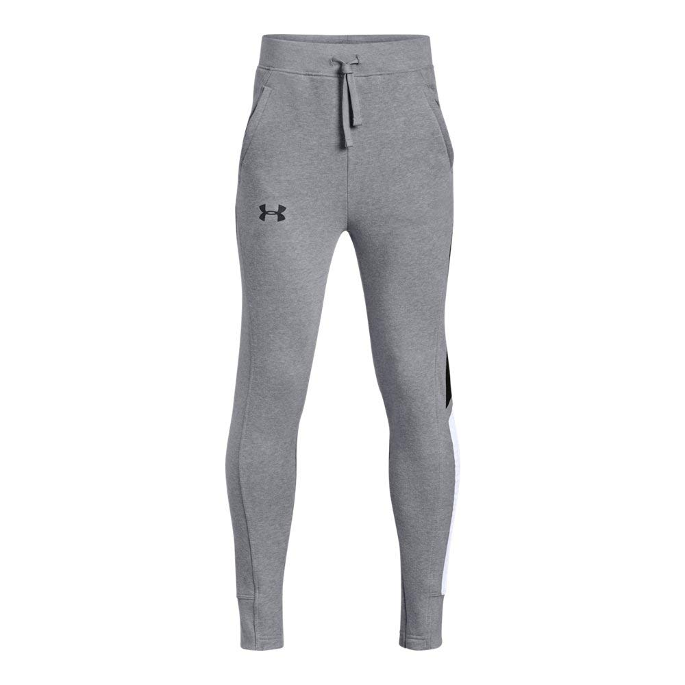 Under Armour Boys Rival Jogger, Steel Light Heather (036)/Black, Youth Large by Under Armour