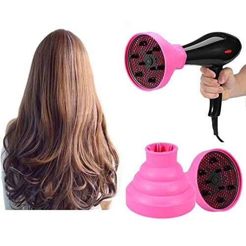 Collapsible Hair Dryer Diffuser, Foldable Hair Blow Dryer Diffuser Professional Hairdressing Salon Accessory Curling Wave Drying Tools (Pink) hot sale