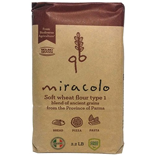 Miracolo Soft Wheat Flour - Ancient Grains Blend by Molino Grassi (2.2 pound)