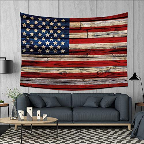 smallbeefly 4th of July Tapestry Wall Tapestry Wooden Planks