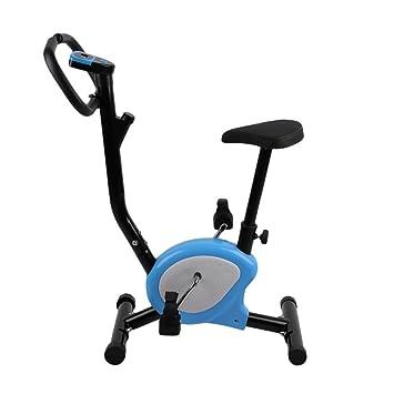 Homgrace Bicicleta Estática Plegable para Fitness con Magnético, MAX del Usuario hasta 100 kg Azul
