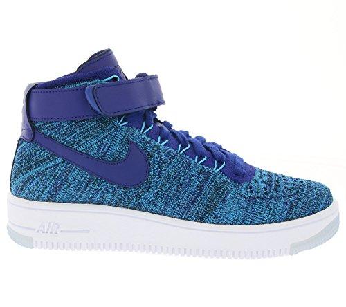 Nike W Deep Femme Flyknit Sport Bleu Royal Chaussures De Lagoon Af1 Azul blue Blue rrx1gwq6f
