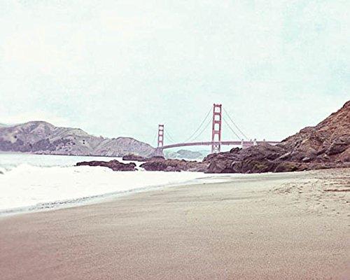 (San Francisco Golden Gate Bridge Photography Beach Photo 8x10 inch Print)