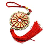 HUELE Chinese Knot Decoration, Feng Shui Lucky Coins for Car, Home