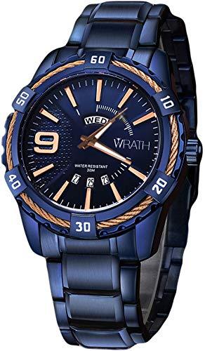 Wrath Devil's Blue Day & Date Luxury Men's Watch