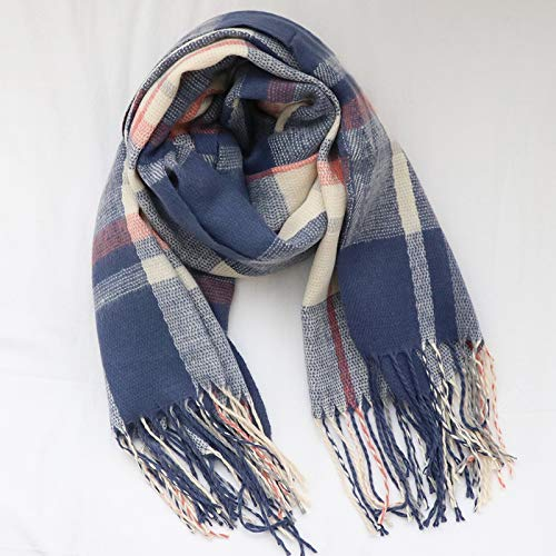 bluee Long Scarf College style scarf female winter classics classic wild thick shawl (color   Red) Fashion Scarf