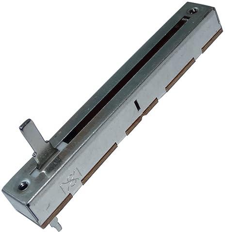 Aerzetix 2x Potentiometer Schiebe 4mm linear mono 500mW 1 kOhm /± 20/% THT 88x12.5x11mm C14916
