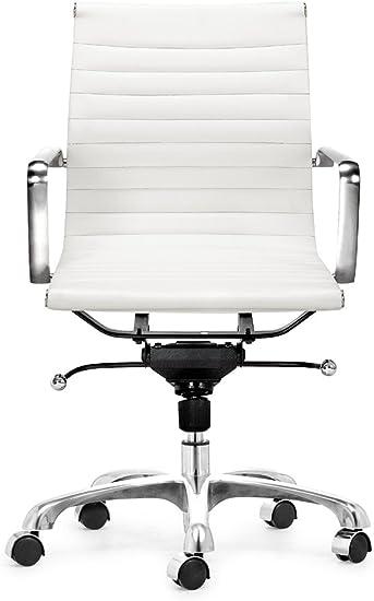 Amazon Com Zuo Lider Office Chair White Furniture Decor