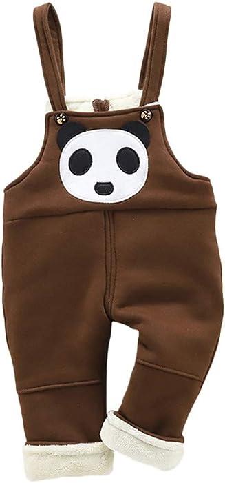 bb816435b8d Toddler Kids Baby Girls Boys Pants Cartoon Bear Thick Warm Trousers Pants