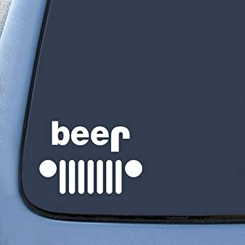 Amazoncom Jeep Funny Beer Sticker Decal Notebook Car Laptop - Funny decal stickers for carsbest funny car decales images on pinterest funny cars