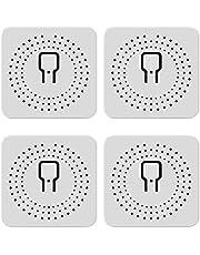 FENGCHUANG Mini Smart Switch 16A DIY Wi-Fi Inteligente Módulo Interruptor de Luz Inteligente Vida/Tuya App Tempo/Grupo de Controle Compatível Com Alexa E Inicial Do Google (4 Pack)
