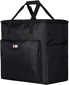 Hallart BUBM Desktop Computer Carrying Case, Padded Nylon Carry Tote Bag for Transporting Computer Tower PC Chassis,Monitor(Up to 24 inch),Keyboard,Cable and Mouse