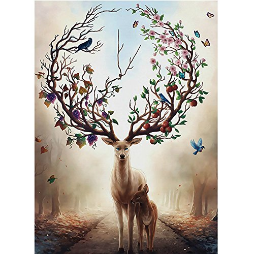 Forest 1000 Piece Puzzle - CHengQiSM 1000 Piece Jigsaw Puzzle - Deer in The Forest Jigsaw Puzzle for Kids Adult Man Women Teens Reduced Pressure Toy Gift - Learning and Education Toys