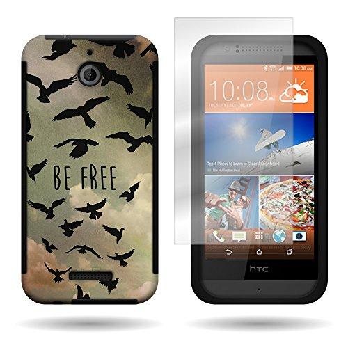 CoverON® For HTC Desire 510 Armor Hybrid Dual Layer Phone Case Cover w/ Screen Protector - Free Bird Design