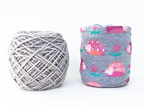 (Pink Hedgehog Yarn Keeper for Knit & Crochet - Skein Coat)