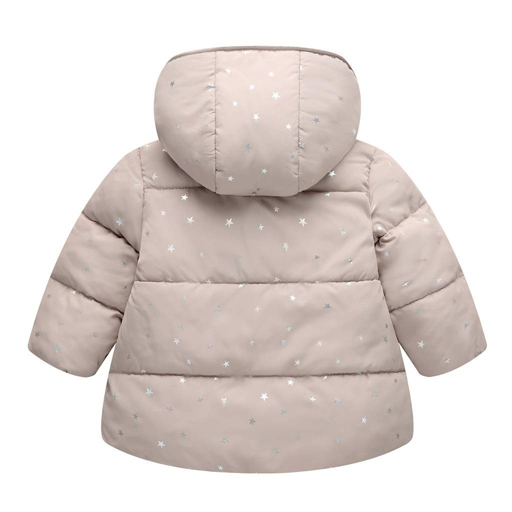 Kids Baby Hooded Down Cotton Padded Jacket Girls Winter Wadded Coat Warm  Snowsuit Quilted Outerwear Vine a75d29020