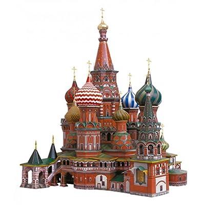Keranova Keranova195 36 Scala 1 150 X 35 X 41 Cm Intelligente Carta Edifici Storici Puzzle 3d Cattedrale Di San Vasil Mosca
