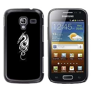 FlareStar Colour Printing Flagon Fire Tribal Black White Minimalist cáscara Funda Case Caso de plástico para Samsung Galaxy Ace 2 i8160 / Ace2 II XS7560M