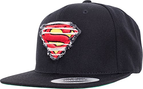 MERCHCODE Merch Código Destroyed Superman–Gorra, Black, One Size