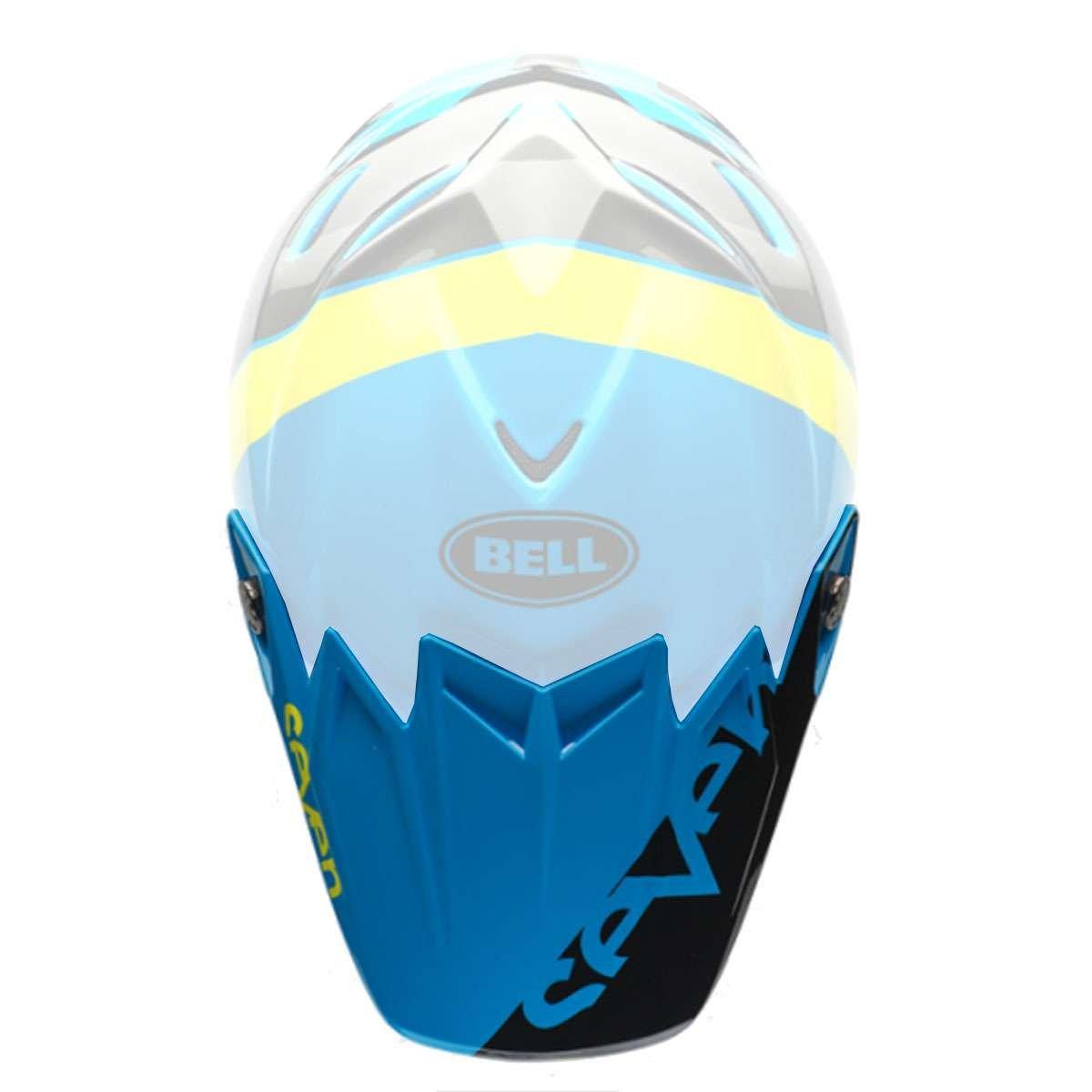 Bell Powersports Moto-9 Flex Helmet - Replacement Visor - Seven Blue/Yellow - 7080406