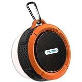 VicTsing Shower Speaker 5W, Mini Bluetooth Portable Speaker with Suction Cup, Waterproof Speaker built-in Mic, Hands-Free Speakerphone - Orange