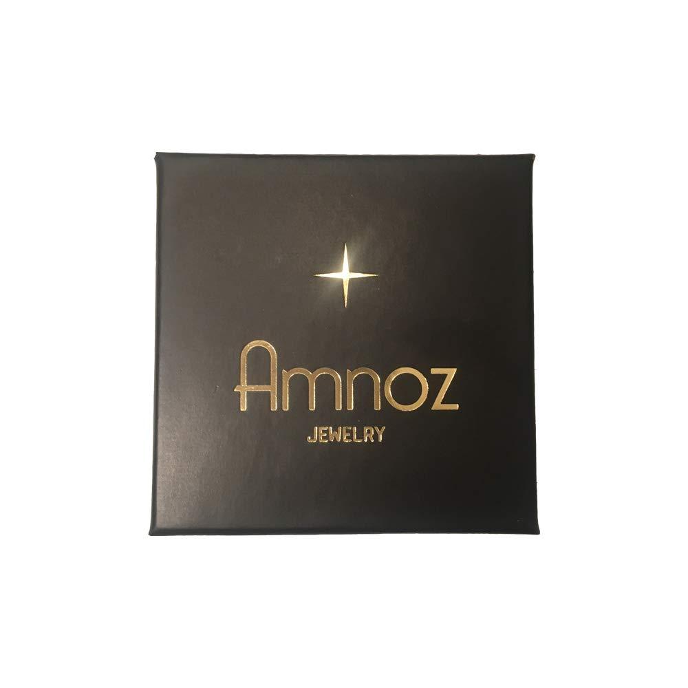 Amnoz Twisted Silver Hoop Earrings Anti-Tarnish Dangle Earrings