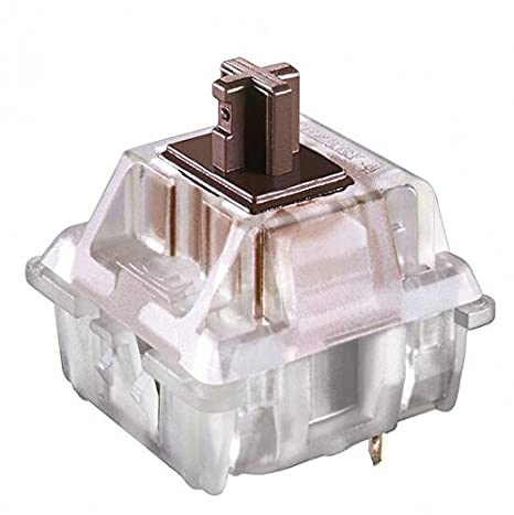 Generic 5Pin Gateron Brown Switch Interruptores de Llave Clear Keycap Button with Keychain para Mechanical Keyboard teclado mecánico: Amazon.es: Electrónica