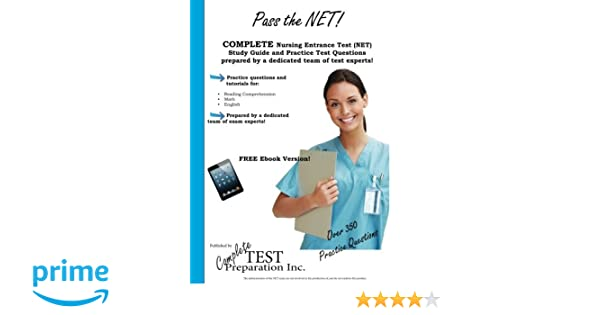 Pass the net nursing entrance test study guide and practice test nursing entrance test study guide and practice test questions 9781479249619 medicine health science books amazon fandeluxe Images
