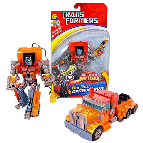 7 Fast Action Battlers Series 6 Inch Tall Figure - FIRE Blast Optimus Prime with Missile Launcher (Vehicle Mode: Rig Truck) ()