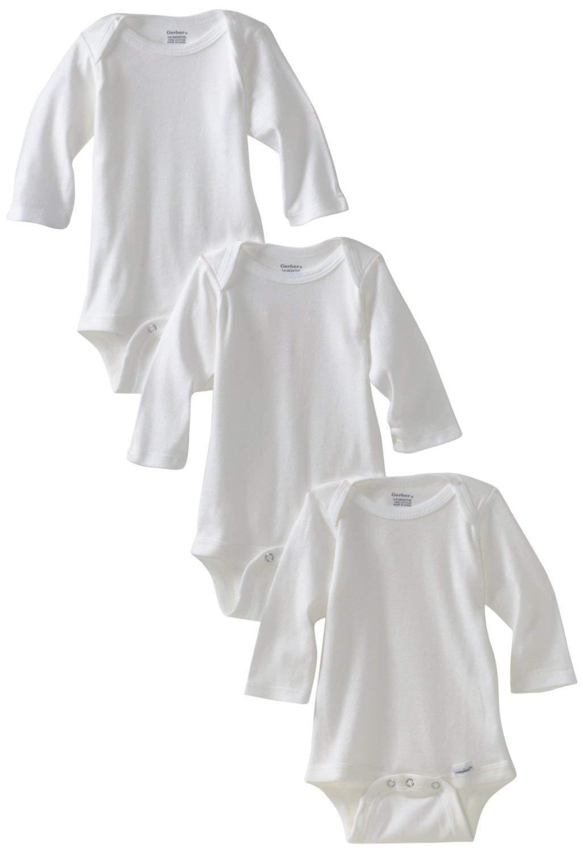 Gerber Baby 3-Pack Or 6-Pack Long-Sleeve Onesies Bodysuit