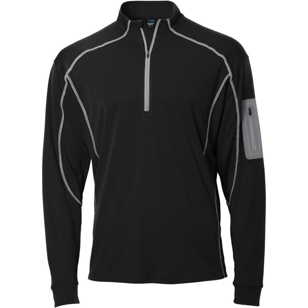 TGW Mens Tour 1/4 Zip Pullover Black S