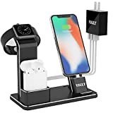 VIGLT Aluminum 3 in 1 Charging Stand with 3-Port USB Adapter for Apple Watch Series 3/2/1,AirPods 1/2 and iPhone X 8/8 Plus 7/7Plus 6/6S Plus iPad