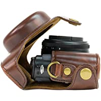 MegaGear Ever Ready Protective Leather Camera Case, Bag for Panasonic Lumix Lx7 (Dark Brown)
