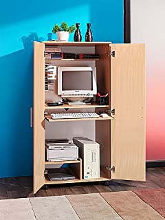 baumhaus hidden home office 2. frosty hideaway computer desk in beech m0240 baumhaus hidden home office 2