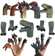 Makers R Us 10 Pcs Dinosaurs Finger Puppets for Kids DIY Arts Crafts | Party Toys | Birthday Gift | Role Playi