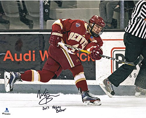"Will Butcher New Jersey Devils Autographed 16"" x 20"" University of Denver Spotlight Photograph with 2017 Hobey Baker Inscription - Limited Edition of 8 - Fanatics Authentic Certified"