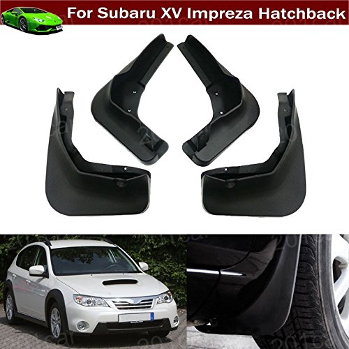 4Pcs Car Mud Flaps Splash Guard Protective Fender Mudguard Mudflaps Mud Guards For Subaru XV Impreza Hatchback 2012 2013 2014 2015 2016 2017 (Subaru Impreza Mud Flaps)