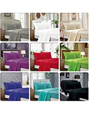 1000TC Ultra Soft 4pc Sheet Set (Flat Sheet & Fitted Sheet & 2 Pillowcases) - 5 Sizes